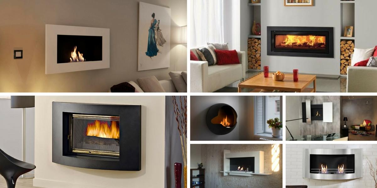 Formes et design de cheminées bioethanol murales
