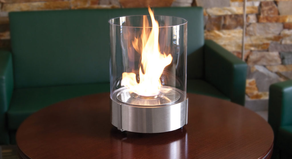 Cheminée bioéthanol de table portable